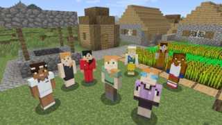 我的世界(Minecraft)在控制台可选取女性主角